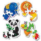 Беби пазлы Vladi-Toys Зоопарк 4 шт (VT1106-50), фото 3