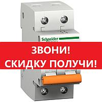 Автоматический выключатель Schneider-Electric двухполюсный 1P+N 16A C , 11213