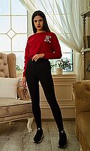 Классические повседневные лосины из тонкого джинса высокая посадка