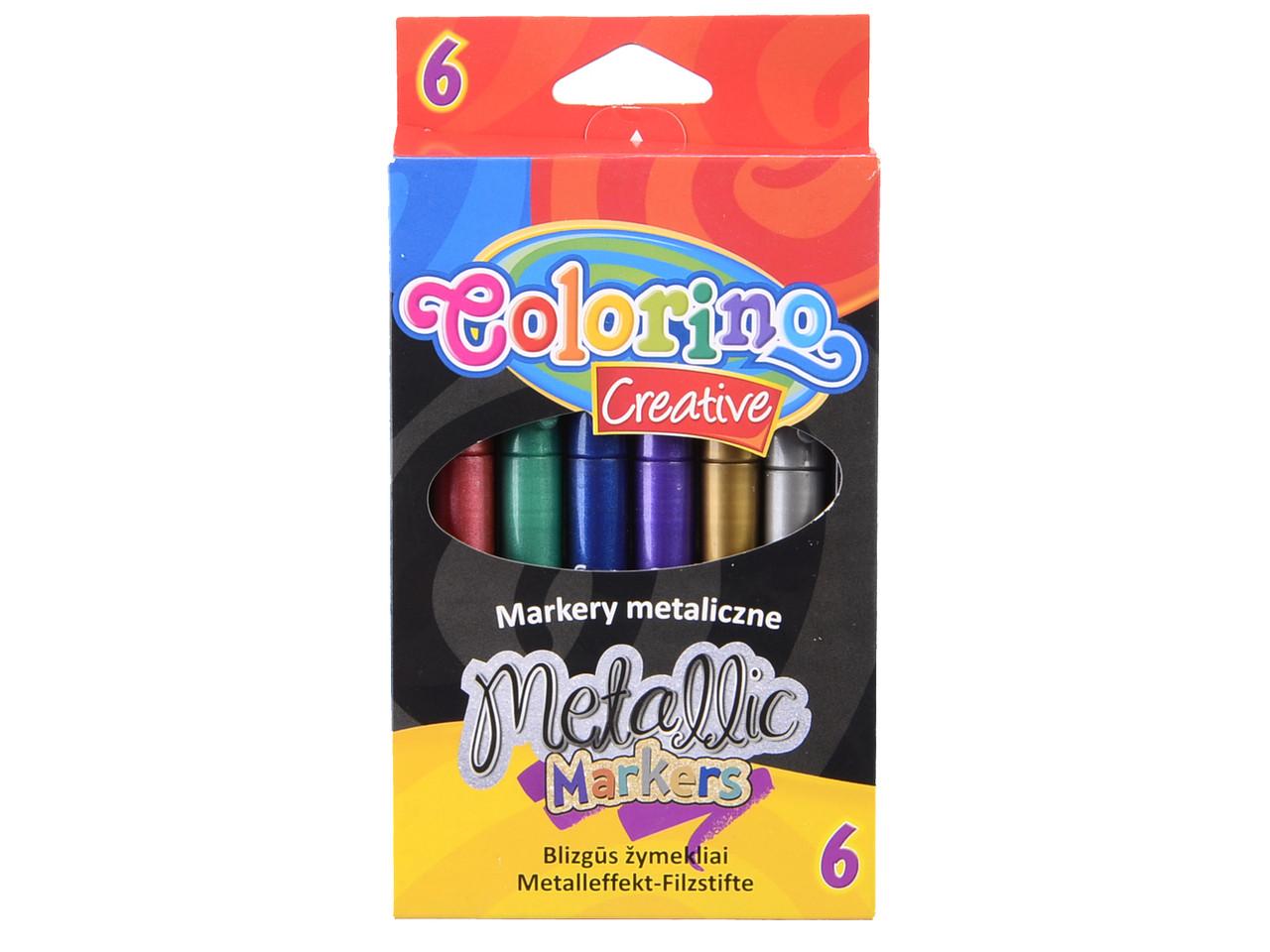 Маркеры метализированые набор 6цв. Colorino (3258PTR)