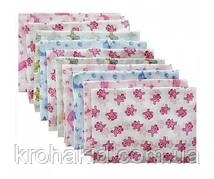 Набор ситцевых пеленок (5 шт) для девочки / для мальчика / универсальные - 90х110 см