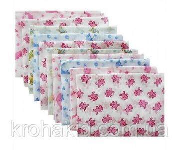 Набор ситцевых пеленок (5 шт) для девочки / для мальчика / универсальные - 90 х 110 см, фото 2