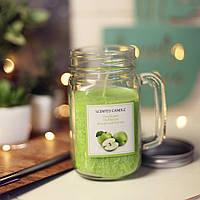 Свеча в стеклянной кружке Jar (зеленое яблоко) (IMP_25_APP)