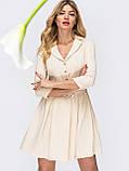Платье-мини с рукавом три четверти и поясом в комплекте, фото 8