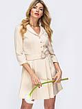Платье-мини с рукавом три четверти и поясом в комплекте, фото 7