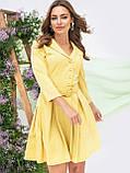 Платье-мини с рукавом три четверти и поясом в комплекте, фото 2