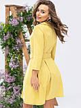 Платье-мини с рукавом три четверти и поясом в комплекте, фото 3