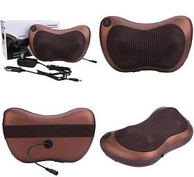 Роликовий масажер для спини і шиї Massage pillow (масажна подушка)