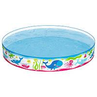 BW Бассейн 55029 (6шт) детский, наливной, Подводный мир, 152-25см, 435л,ремкомпл, в кор-ке, 152-25см