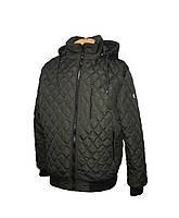 Куртка мужская весенняя (осенняя), мужская ветровка на резинке, с манжетами и капюшоном