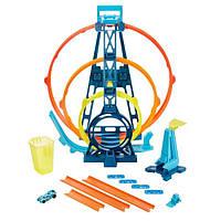 Трек Хот Вилс Тройная петля Гонки по вертикале Hot Wheels Track Builder Triple Loop