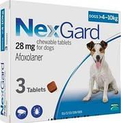Таблетки NexGard от блох и клещей для собак 4-10 кг