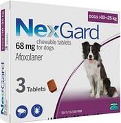 Таблетки NexGard от блох и клещей для собак 10-25 кг