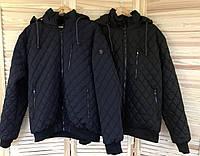 Куртка мужская весенняя (осенняя), мужская ветровка на резинке, с манжетами и капюшоном в разных цветах