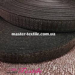 Липучка текстильна 25 мм, 25 метрів (коричнева)
