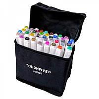 Маркеры для скетчинга TOUCHFIVE 40 цветов. Ландшафтный дизайн