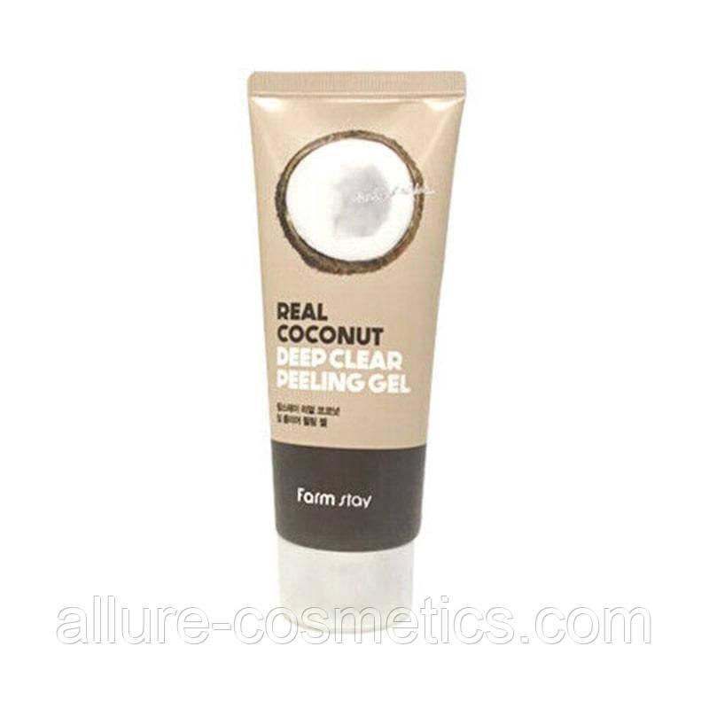 Пилинг-гель для лица с экстрактом кокоса FARM STAY Real Deep Clear Peeling Gel Coconut
