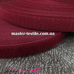 Липучка текстильна 25 мм, 25 метрів (бордова)