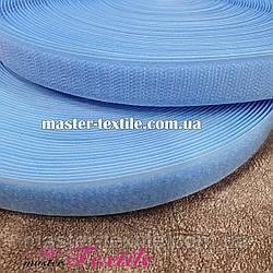 Липучка текстильная 25 мм, 25 метров (голубая)