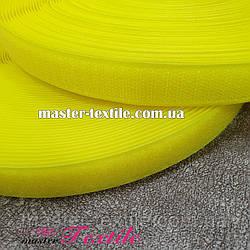 Липучка текстильная 25 мм, 25 метров (желтая)