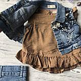 Летний джинсовый костюм на девочку 7. Размер  92 см, 104 см, 110 см, фото 2