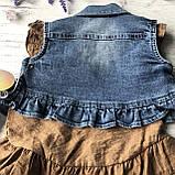 Летний джинсовый костюм на девочку 7. Размер  92 см, 104 см, 110 см, фото 3