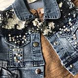 Летний джинсовый костюм на девочку 7. Размер  92 см, 104 см, 110 см, фото 4