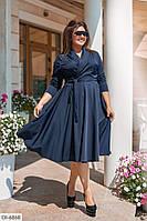 Плаття на запах жіноче синє ошатне батал розміри 50 52 54 56 Новинка 2020 є колір