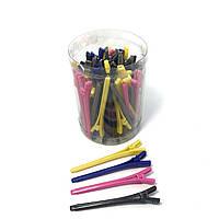 Зажим для волос DenIS professional - пластик цветной 50 шт., фото 1