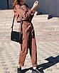 Шикарный прогулочный теплый костюм повседневный с брюками кежуал классический беж коричневый бордо, фото 6