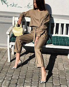 Шикарный прогулочный теплый костюм повседневный с брюками кежуал классический беж коричневый бордо