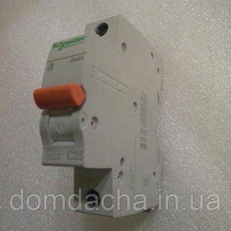 Schneider Electric Автоматический выключатель ВА63 1P 25A С, фото 2