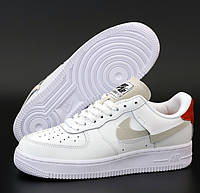 Женские кроссовки  Nike Air Force 1 Inside Out AF1 White Red Blue 36-40рр. Живое фото. Реплика