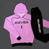 Мужской спортивный костюм Billie eilish с капюшоном лавандовый с черным Турция. Живое фото (весенний костюм)