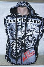 Кофта мужская молодёжная BLACK DEATH размер 44-50 купить оптом со склада 7км Одесса