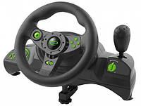 Игровой руль для ПК Esperanza EGW102, руль с педалями и коробкой передач для компьютера