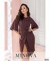 Оригинальное приталенное платье с широкими рукавами с 48 по 54 размер, фото 1