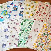 Набор ситцевых пеленок (3 шт) для девочки / для мальчика / универсальные - 90х110 см