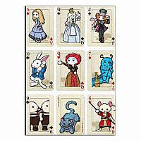 Алиса в стране чудес вафельная картинка