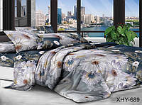 ✅ Двуспальный Евро комплект постельного белья (Поликоттон) TAG XHY689