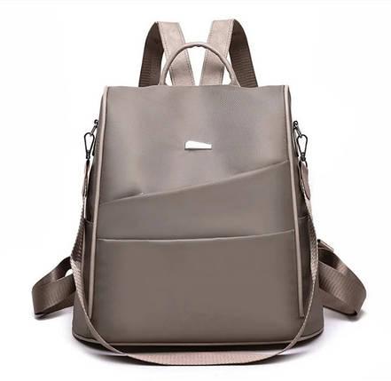 Женский городской рюкзак - сумка. Стильные женские рюкзаки. Черный, бежевый, красный, фото 2