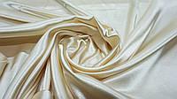 Ткань атлас молочный цвет, фото 1