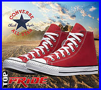 Кеды Converse ALL STAR высокие унисекс (35-46р) (красные)
