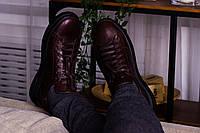 Стильные кожаные кроссовки 40-45 р шоколад, фото 1