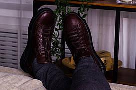 Стильные кожаные кроссовки 40-45 р шоколад