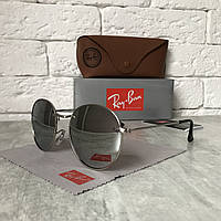 Солнцезащитные очки RAY BAN 3448 ROUND Polarized металлик