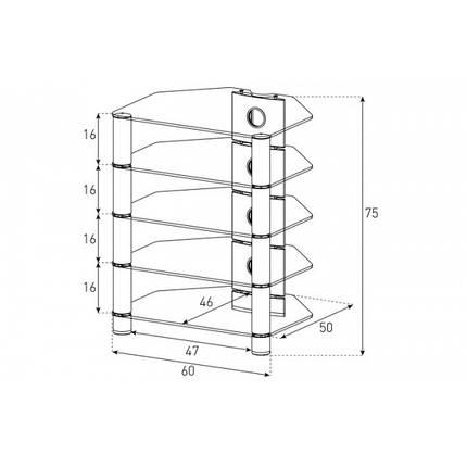 Стійка під hi-fi компоненти Sonorous RX 2150 Чорний (RX 2150-B-HBLK), фото 2