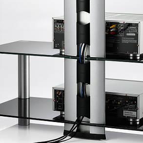 Стойка под hi-fi компоненты Sonorous RX 2130-B-SLV Серебристо-черная, фото 2