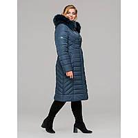 Модная удлиненная зимняя куртка, фото 1