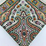 Шелковые травы 1894-1, павлопосадский платок шерстяной (двуниточная шерсть) с шелковой бахромой, фото 6